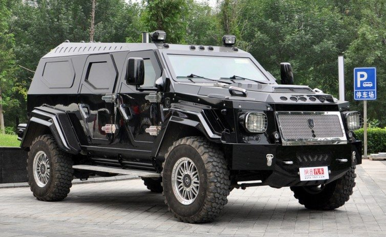 Heavily Armored Private Security Vehicles Criminal