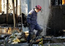 fire investigator at work