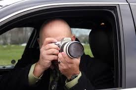 private investigator at work